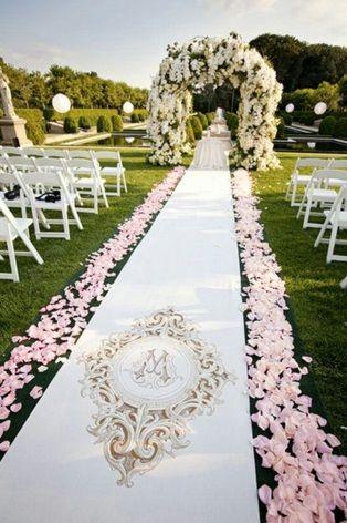 Wedding Aisle Petal Trail