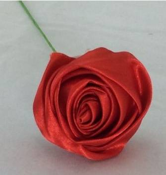 Satin Single Ribbon Rose