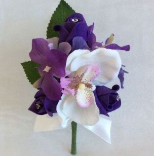 Orchid and Rose Corsage