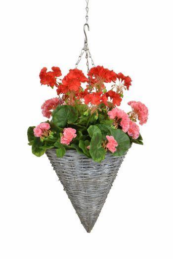 Geranium Cone Basket