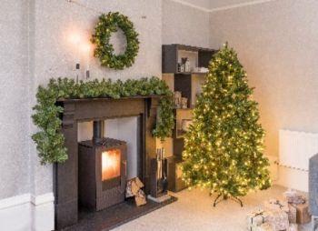 Newberry Spruce Hinged Slim Christmas Tree LED