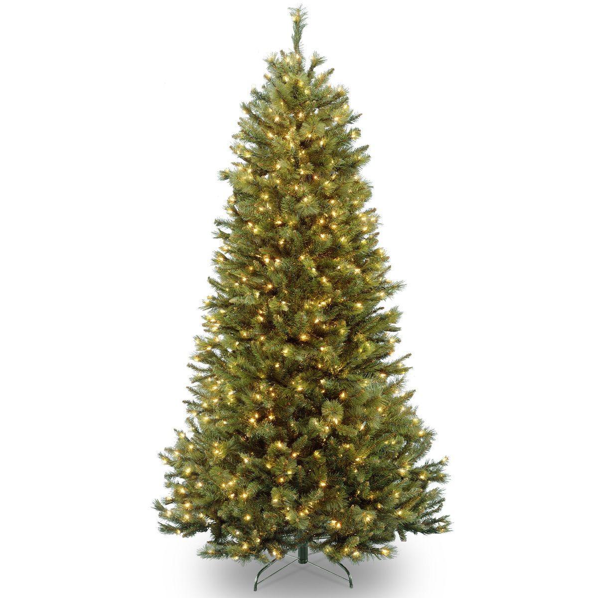 Christmas Tree Led.Artificial Rockland Pine Hinged Christmas Tree Led Just Artificial