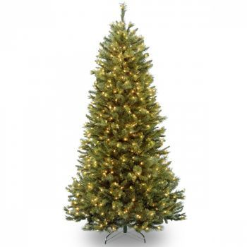 Luxury Rockland Pine Hinged Christmas Tree LED