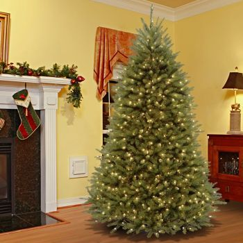 Luxury Dunhill Fir Hinged Christmas Tree LED