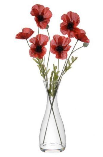 Artificial Poppy Flower Arrangement