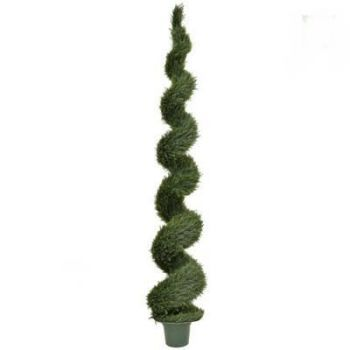 Artificial Topiary Cedar Spiral UV