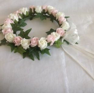 Rose Headdress with Double Bow