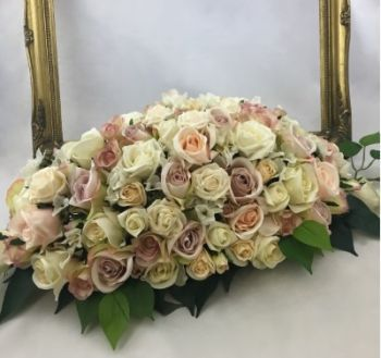 Vintage Rose Top Table Arrangement