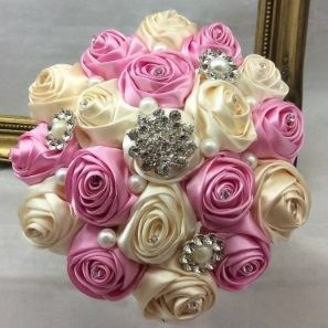 Ribbon Rose and Jewel Bouquet