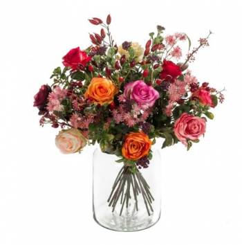 Flame Roses Bouquet Arrangement