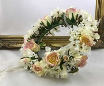 Hydrangea / Rose Full Headdress