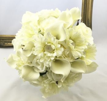 Calla Lily/Gerbera /Rose Hand Tied Bouquet Large