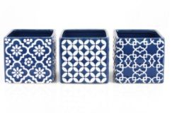 Assorted Deco Pattern Ceramic Cubes