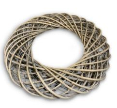 Wide Rustic Willow Wreath Ring