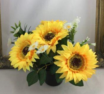 Sunflower Cemetery Pot
