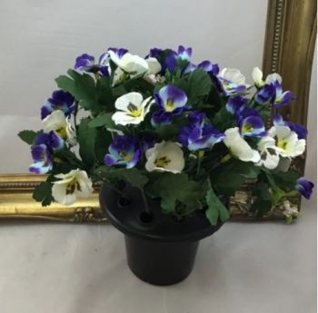 Pansy Cemetery Pot