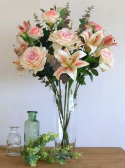 Asiatic Rose and Lily Arrangement