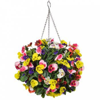 Pansy Ball Hanging Basket Large Deluxe