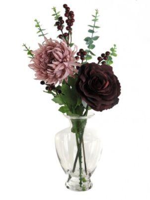 Rose & Mum In Royal Vase Arrangement