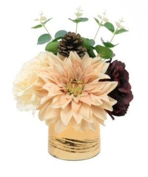 Mixed Rose & Pinecone Arrangement