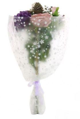 Open Top Mixed Mum Bouquet