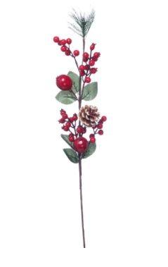 Spruce/ Pinecone / Berry Christmas Spray