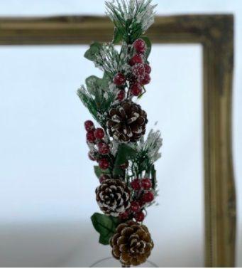 Large Spruce/ Pinecone / Berry Christmas Spray